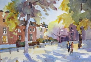 Spring Light, Pond Square, Highgate