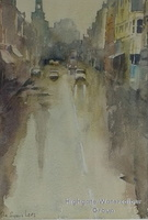 Heavy Rain, Upper Street, Islington