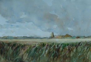 Blythburgh Church from across the Marshes