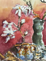 Still Life with Magnolia Stellata
